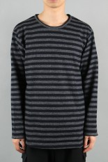 Ground Y Hem Difference L/S Cut and sew / NAVY (GC-T04-104-1A19)