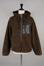 John Elliott Boulder Polar Fleece Full Zip / Brown(3020400102)