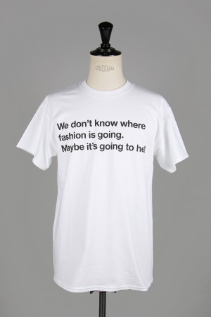 ZOETROPE We don't know... T-Shirt/WHITE