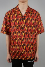 Palm Angels BURNING BOWLING SHIRT(PMGA037R207610131088)