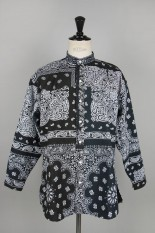 Children Of The Discordance VINTAGE BANDANA PATCHWORK SHIRT LS - BLACK 1 #1 (COTDSH-112)