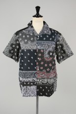 Children Of The Discordance VINTAGE BANDANA PATCHWORK SHIRT SS - BLACK 2 #2 (COTDSH-104)