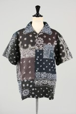 Children Of The Discordance VINTAGE BANDANA PATCHWORK SHIRT SS - BLACK 3 #2 (COTDSH-104)