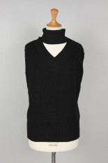 sacai -Women- Knit Pullover -Black (20-04874)