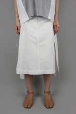 sacai -Women- Denim Skirt -White (20-04926)