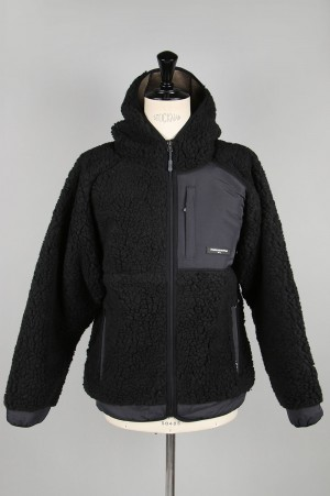 Thisisneverthat Hooded Boa Fleece Jacket / Black(TN19FOW009)