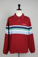 Thisisneverthat L-Logo Striped Jersey Polo / Burgundy(TN19FKW009)