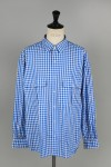 Porter Classic ROLL UP TRICOLOR GINGHAM CHECK SHIRT- BLUE- (PC-016-1314)