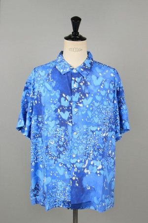 Porter Classic HEART ALOHA SHIRT / BLUE (PC-024-1319)