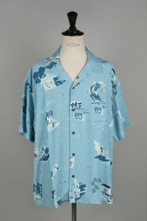 Porter Classic SHOWFOLK ALOHA SHIRT / BLUE (PC-024-1325)