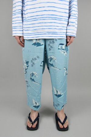 Porter Classic SHOWFOLK ALOHA PANTS / BLUE (PC-024-1326)