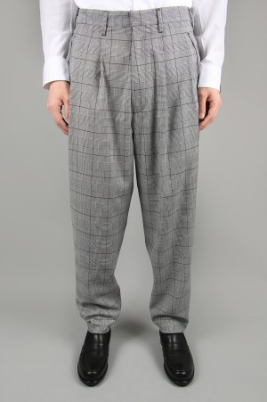 N.hoolywood 2TUCK CHECK SLACKS (1201-PT05-010)